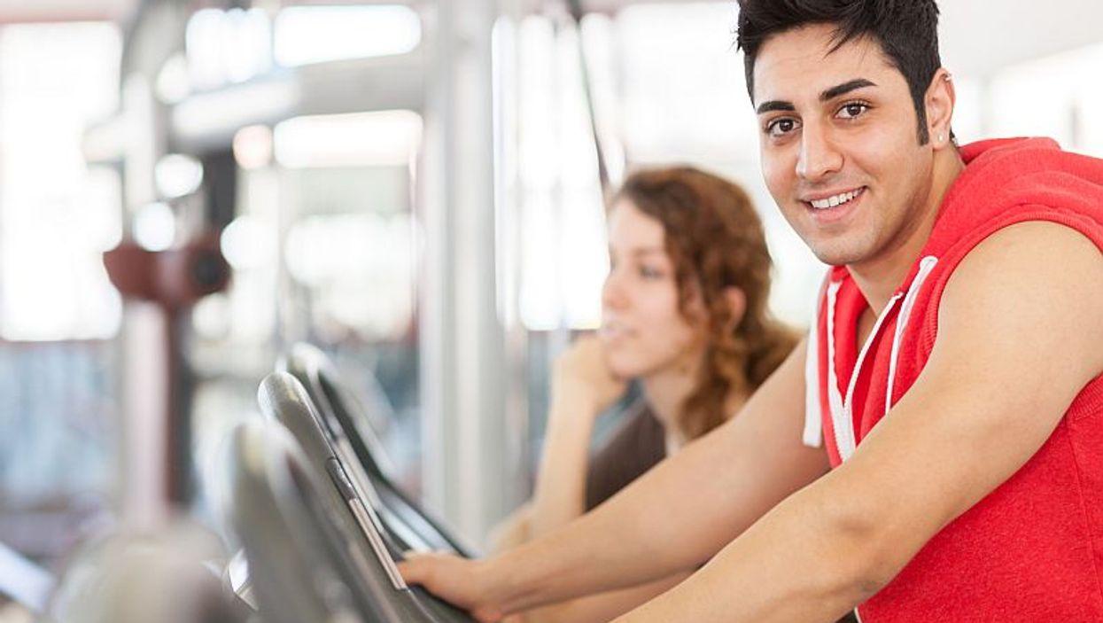 hispanic man exercising