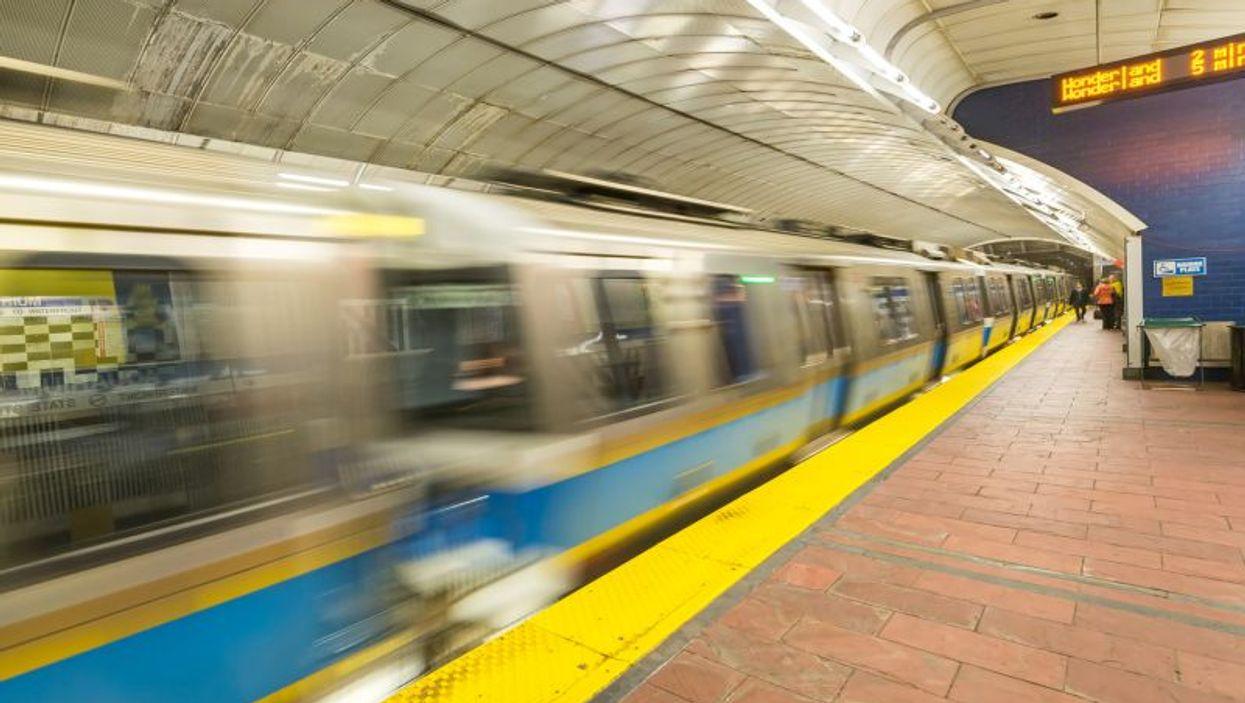 boston subway station