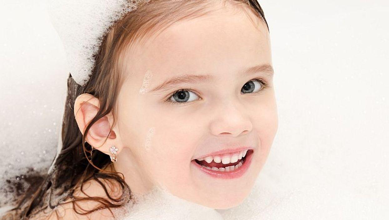 girl in tub