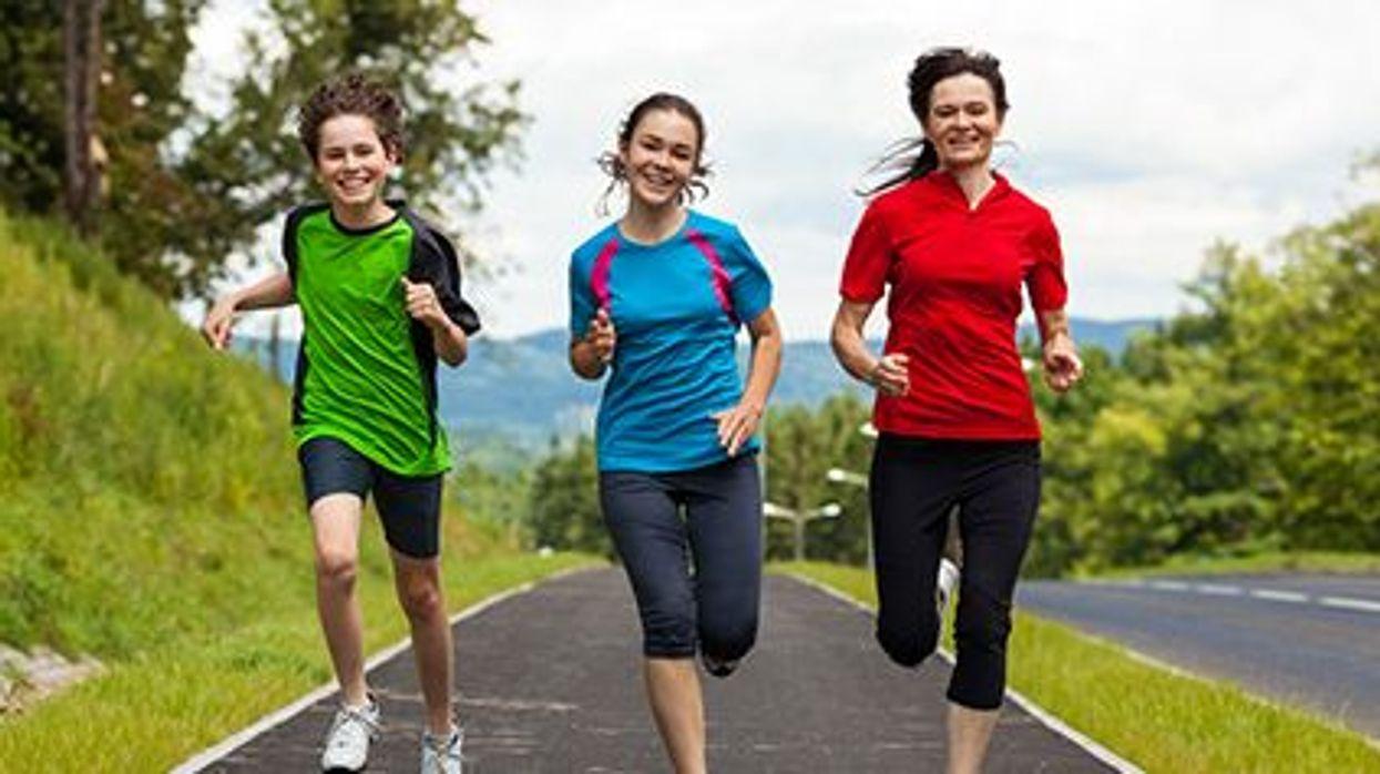 teens running