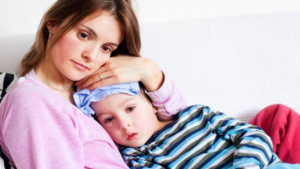 mother and sick son