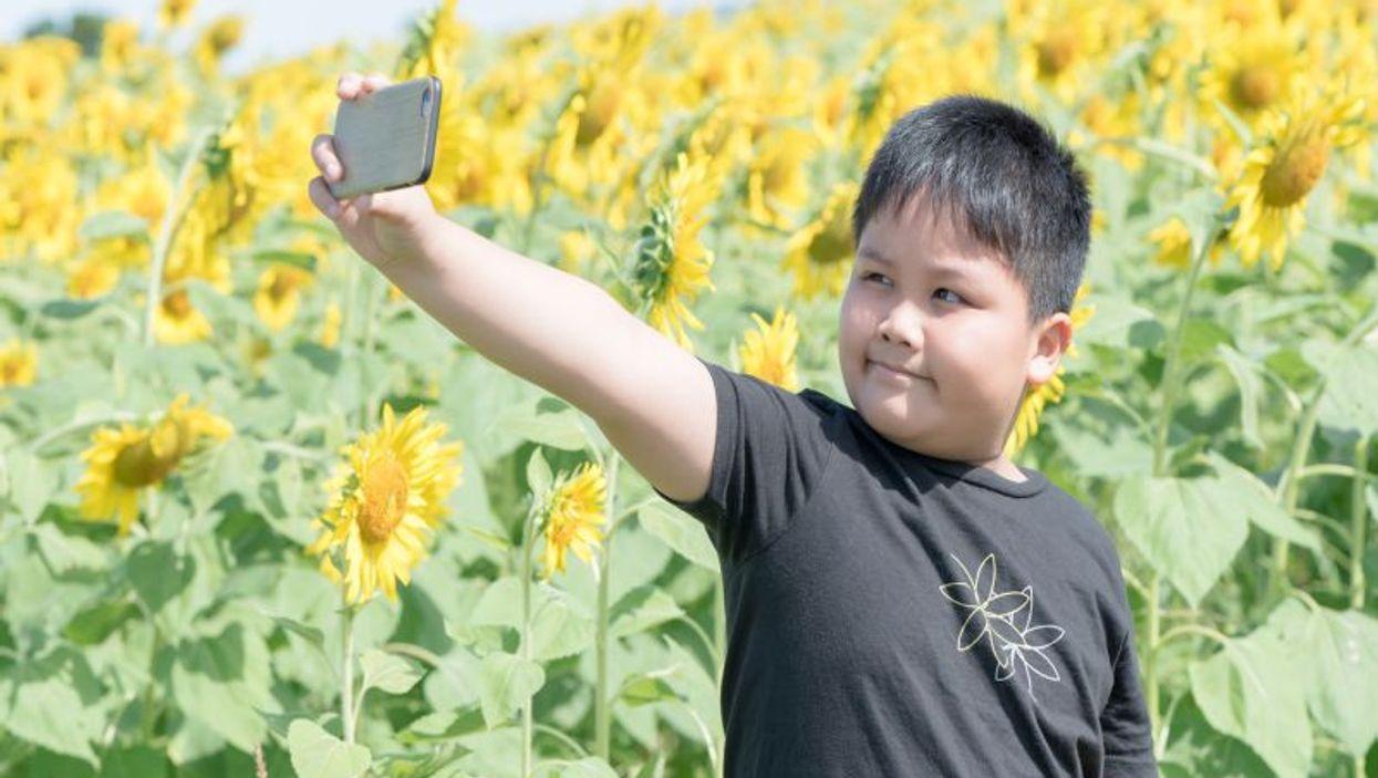 smart phone selfie