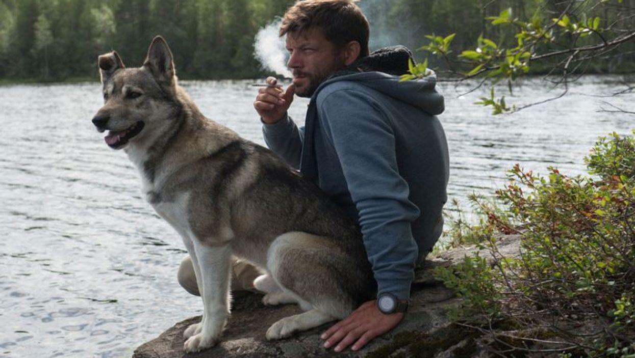 smoking near dog