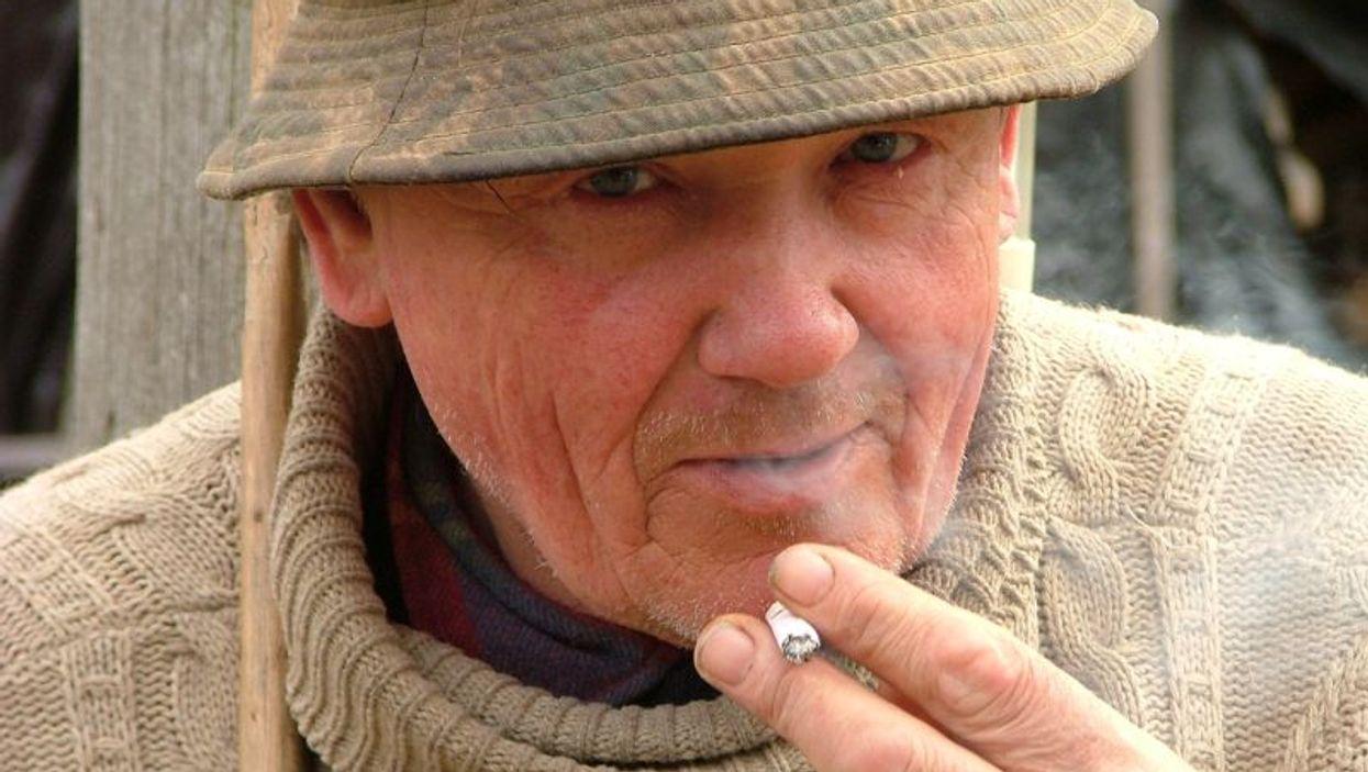 senior smoking