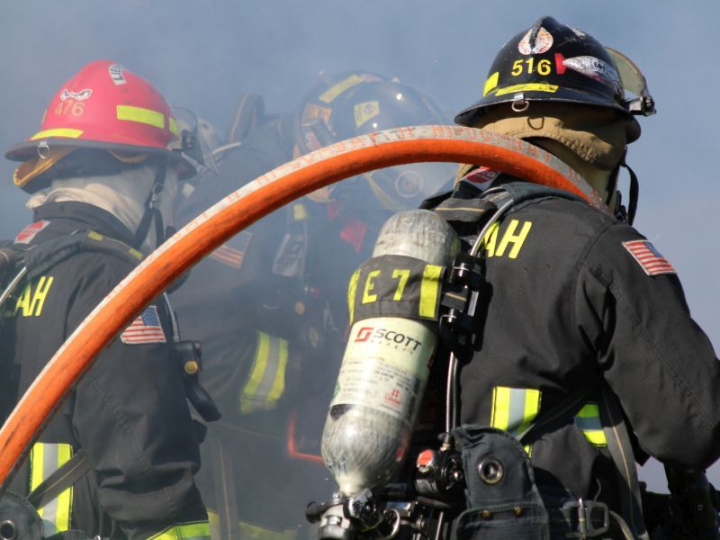 News Picture: Volunteer Firefighters Have High Levels of Potentially Toxic Chemicals
