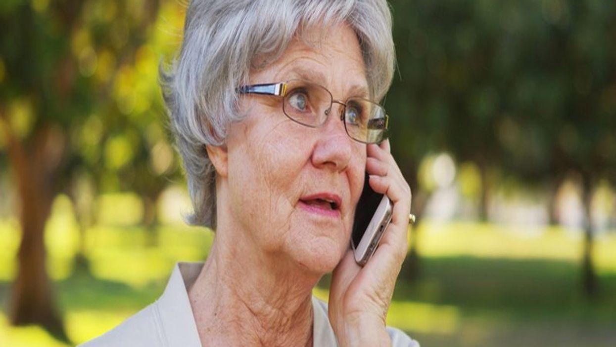 senior woman on cell phone