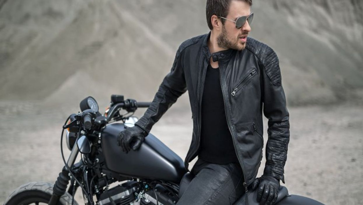 motorcycle rider without helmet