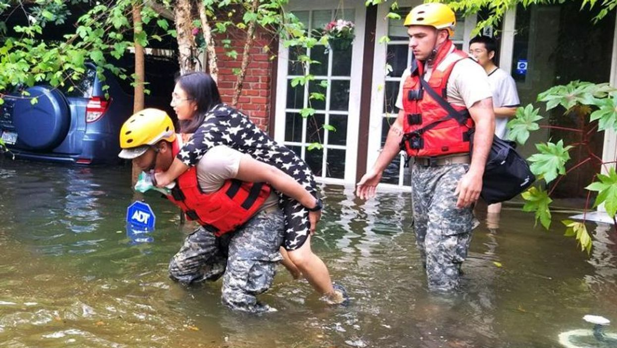 national guard rescues Houston resident