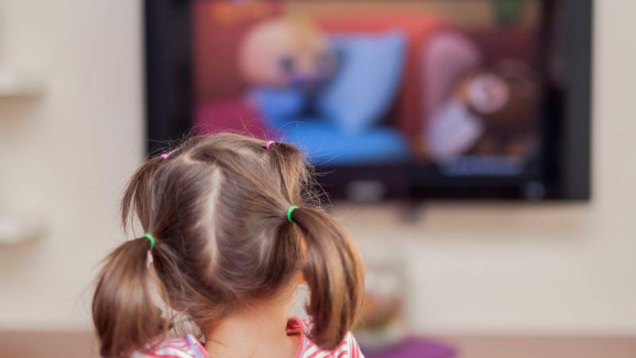 watching tv