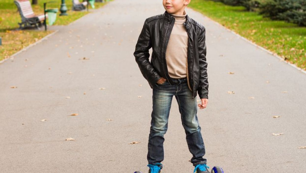 boy on hoverboard