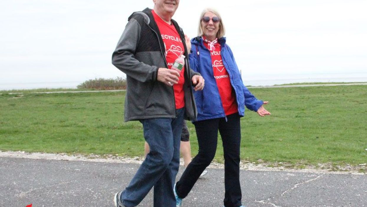 Heart recipient Jerry McCann and his wife, Margaret, have done Heart Walks in 16 states.  Photo courtesy: Jerry McCann