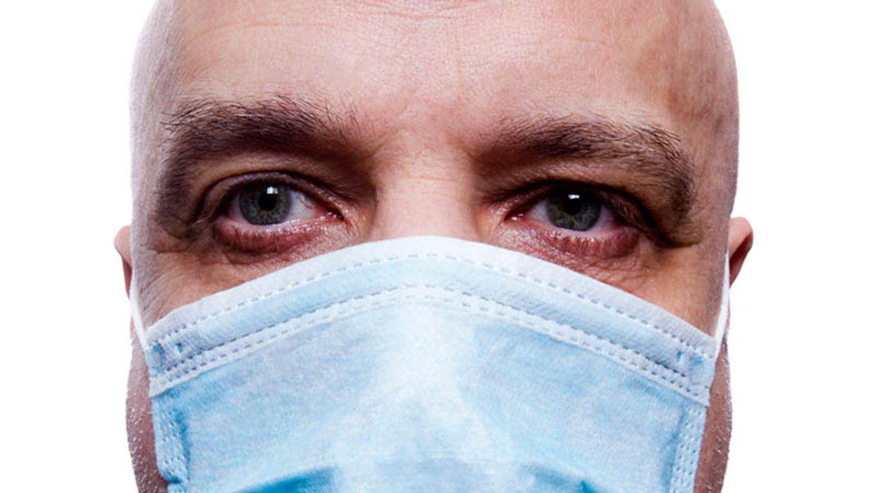 man wearing medical mask