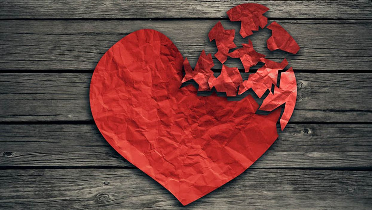 heart made out of paper