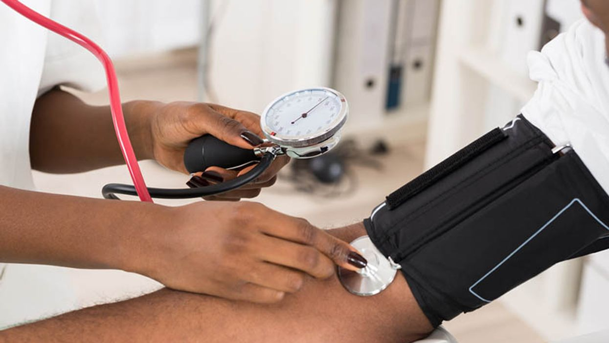 a person checking a blood pressure