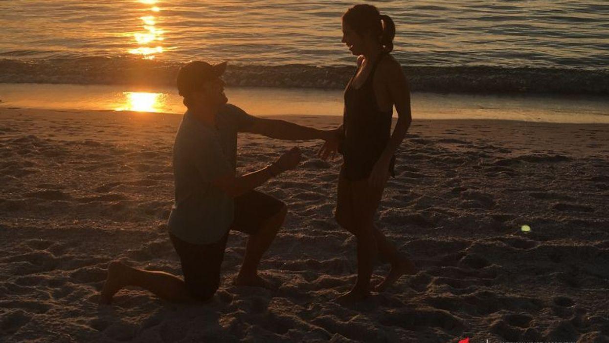 Jake Suter proposed to Keidryn Nimsgern 7 months after a 911 dispatcher walked him through giving her CPR. Photo courtesy: Keidryn Nimsgern