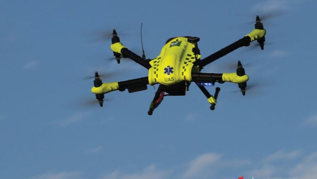 Drones that deliver automated external defibrillators to cardiac arrest victims are being tested in the U.S. and elsewhere.