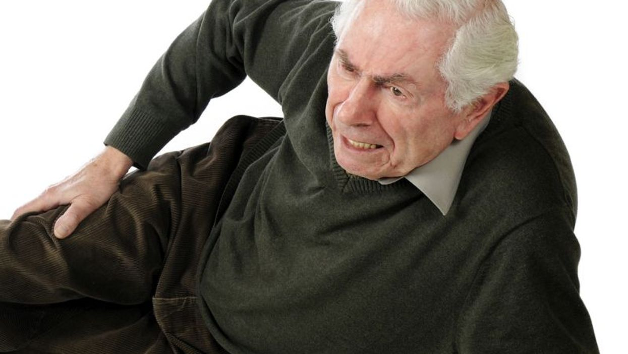 elderly man after falling