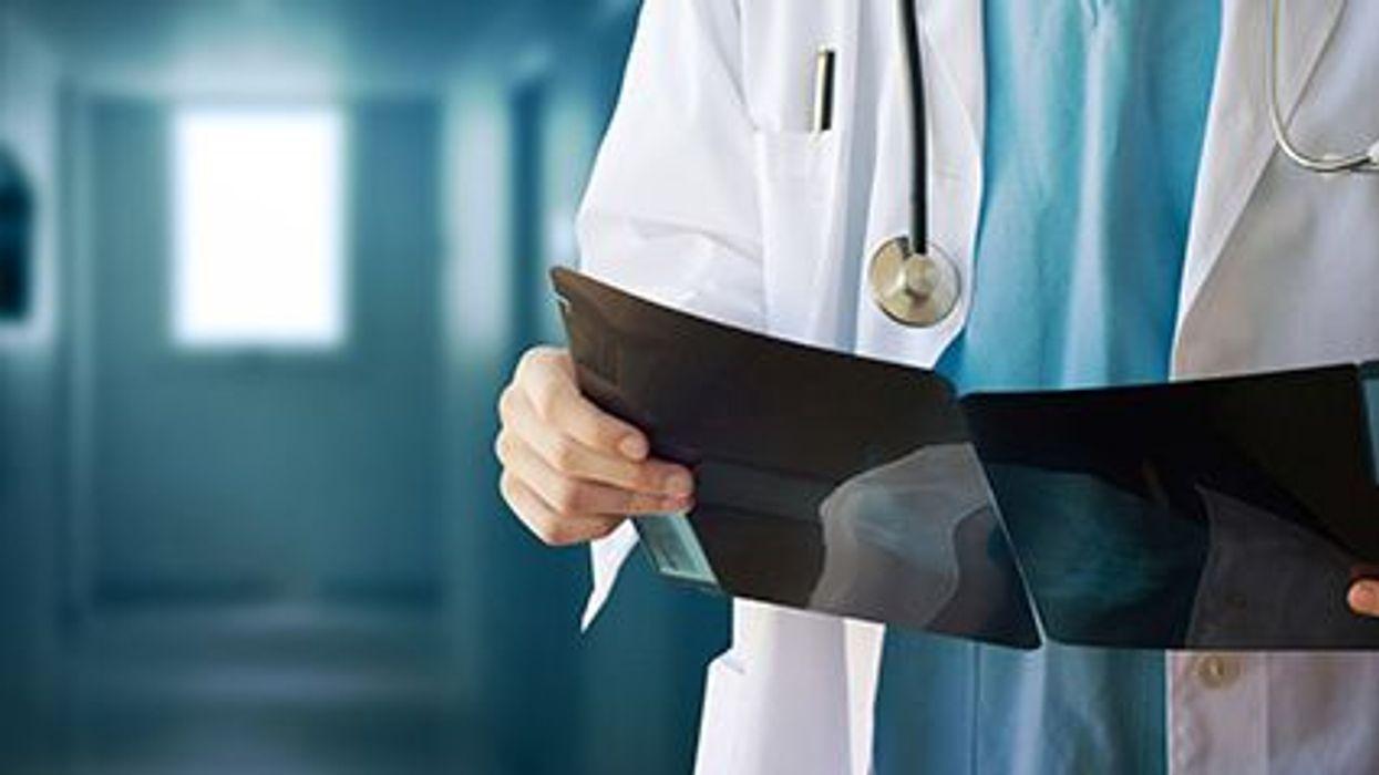 doctor reading xrays