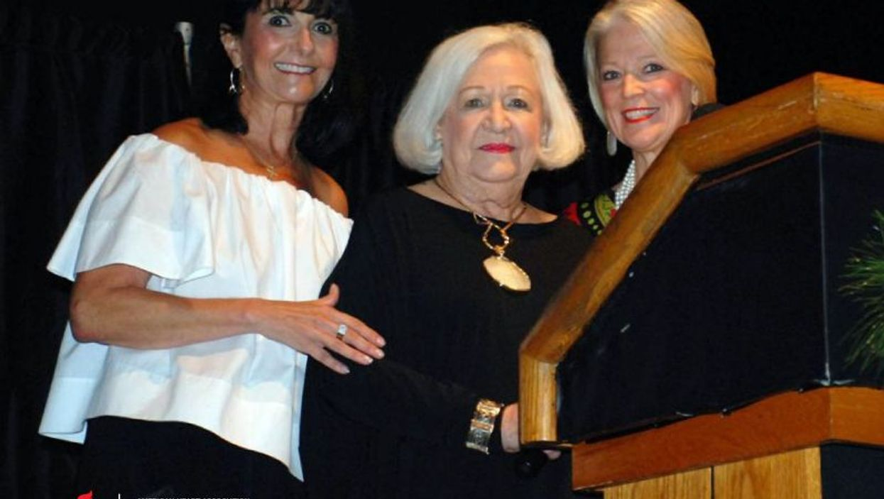 Betty Thrasher (center) at a  Texas fundraiser