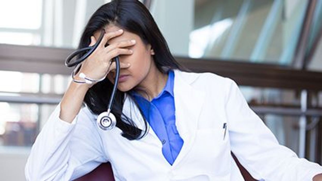stressed female doctor