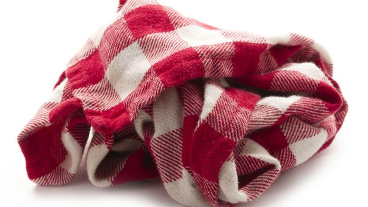 dirty dish towel