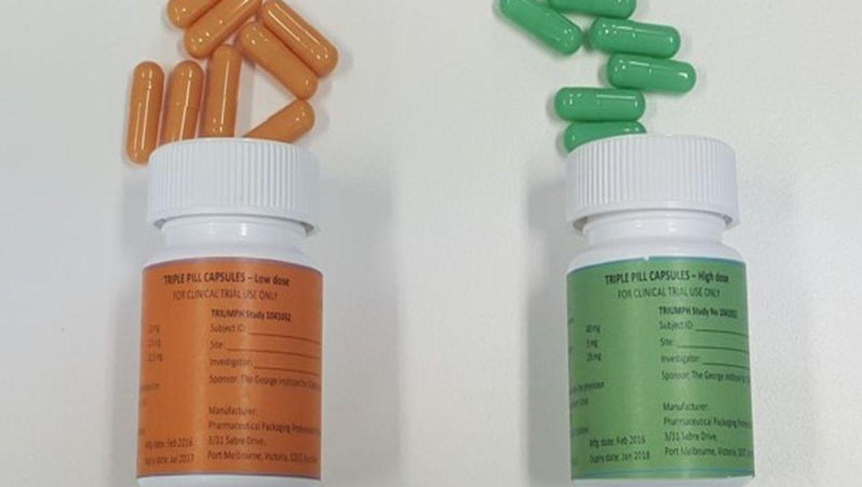 Three-in-one pills