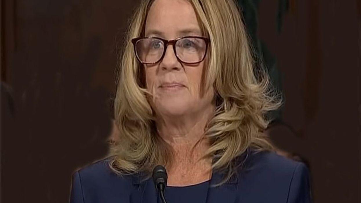 Prof. Christine Blasey Ford testifies before the Senate