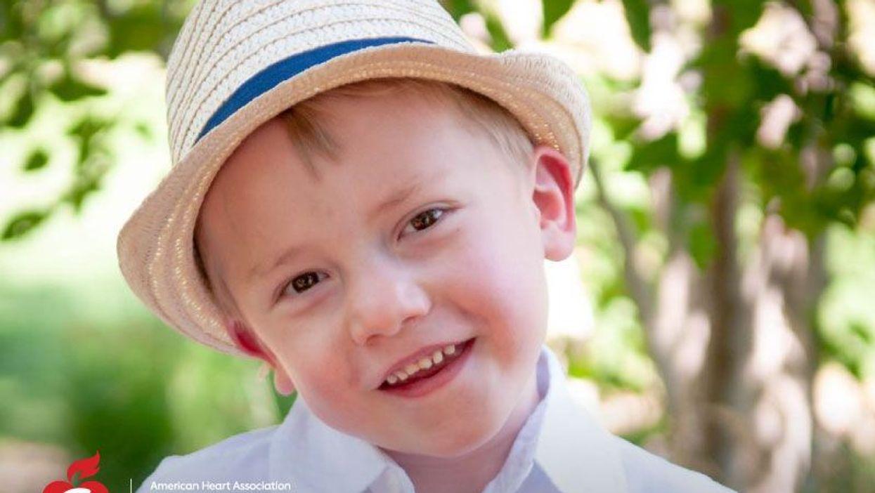 Kaden Livesay, now 4, was born with a rare heart defect. Photo courtesy: Livesay family
