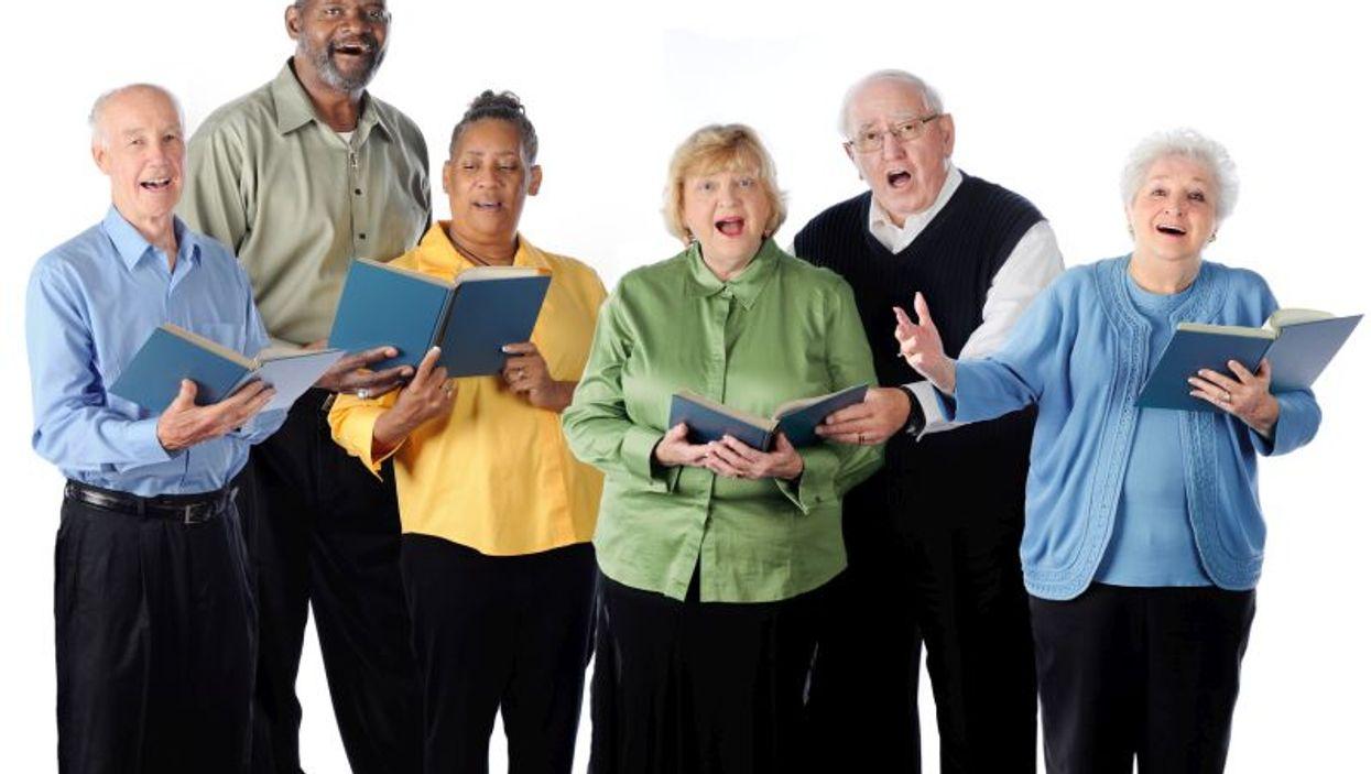 Choir of senior singers