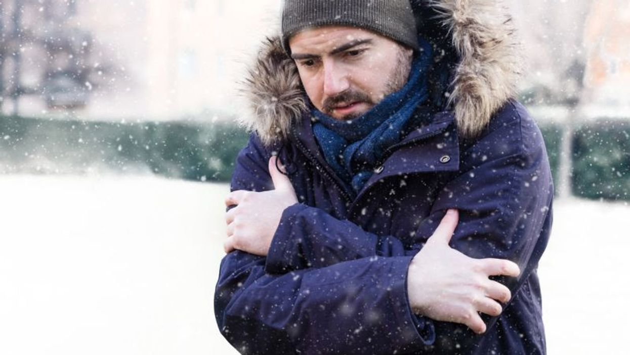 man in cold weather