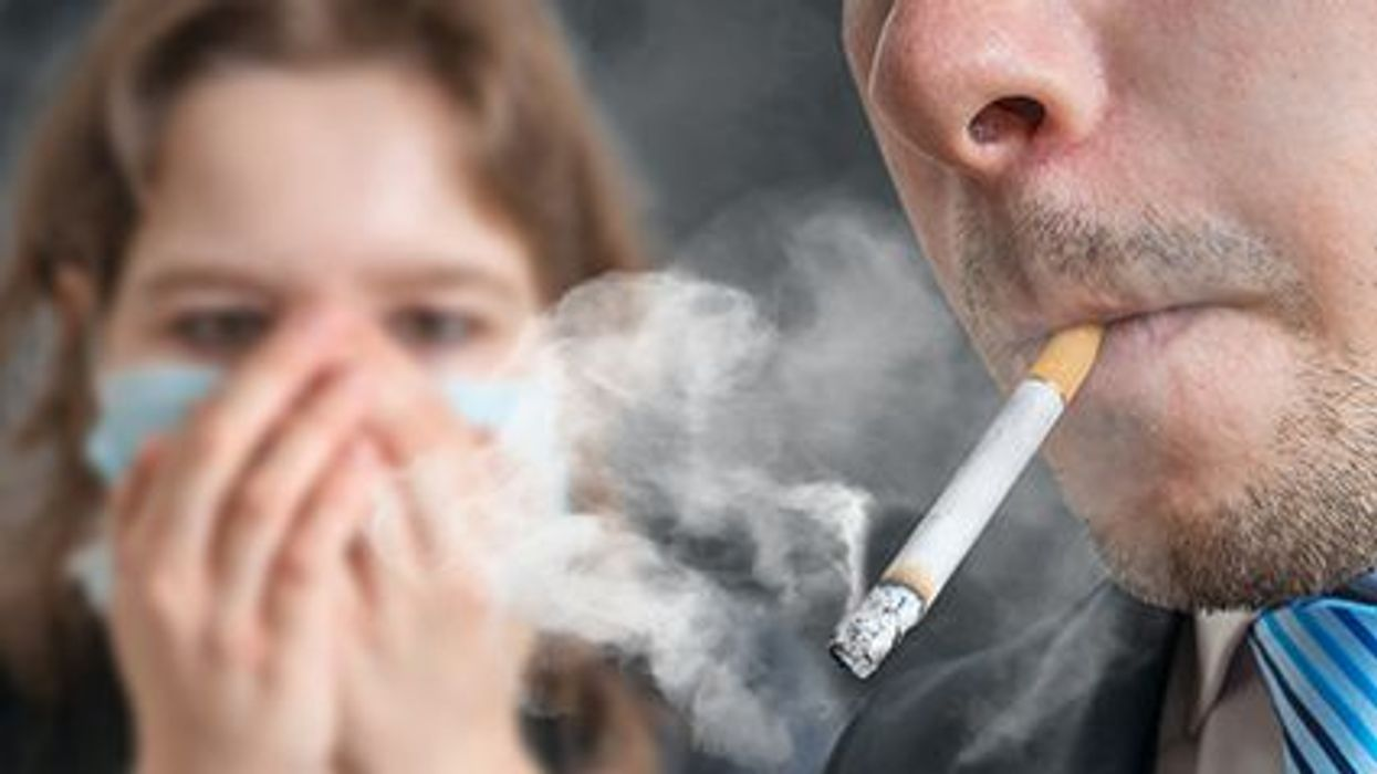 a person smoking
