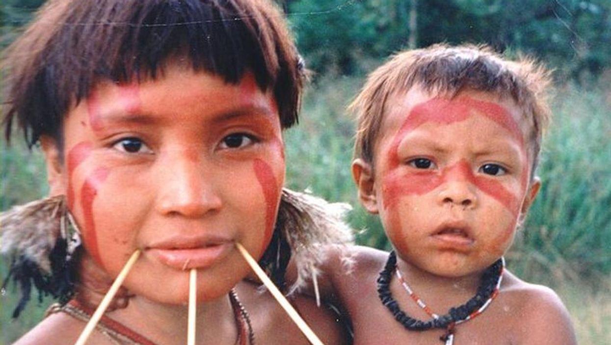 Yanomami woman and child