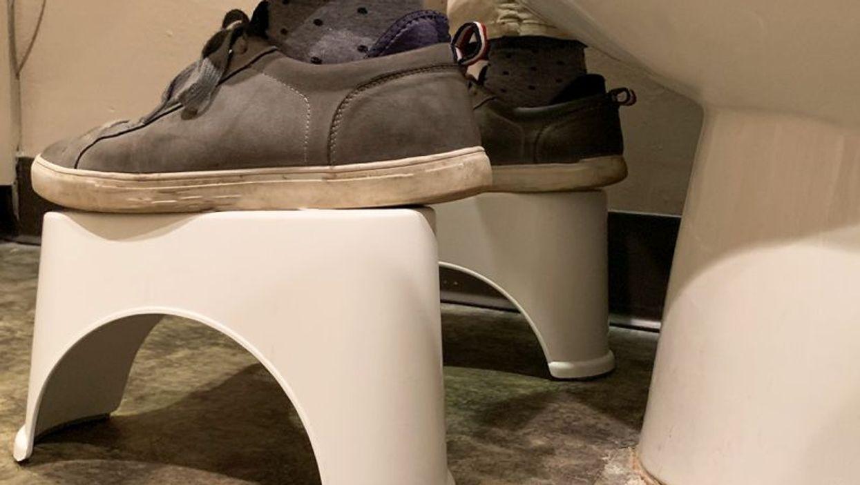 Feet in bathroom