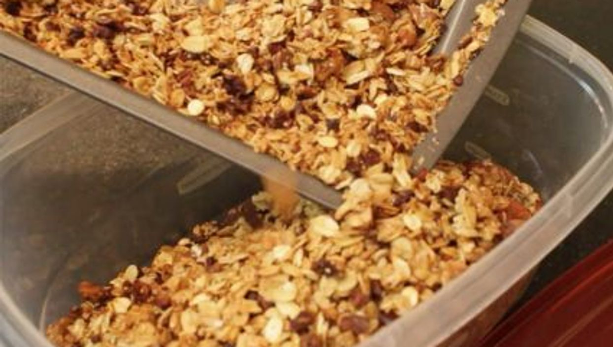 granola in the container