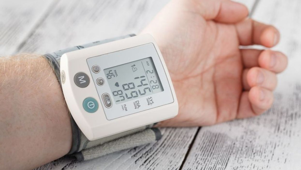 taking blood pressure at home