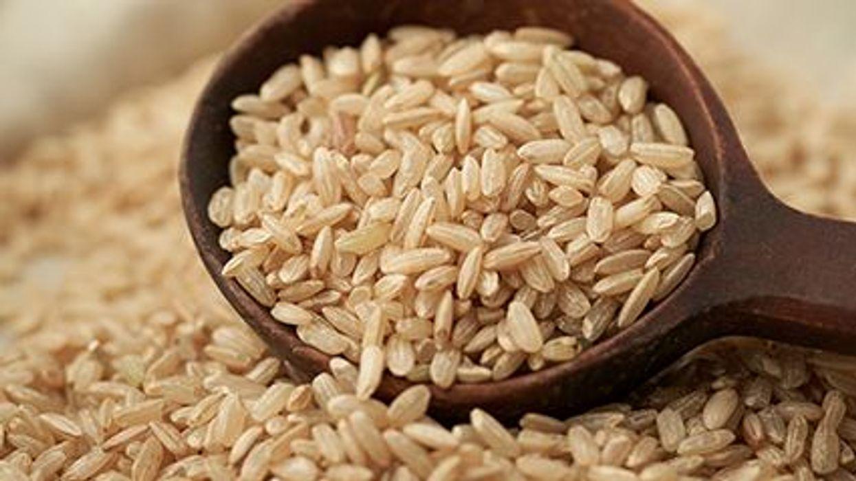 rice on a pan