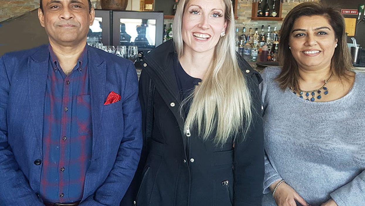 Muhammad Khan, Kelly Bryan, Hina Khan.  Photo: University Health Network