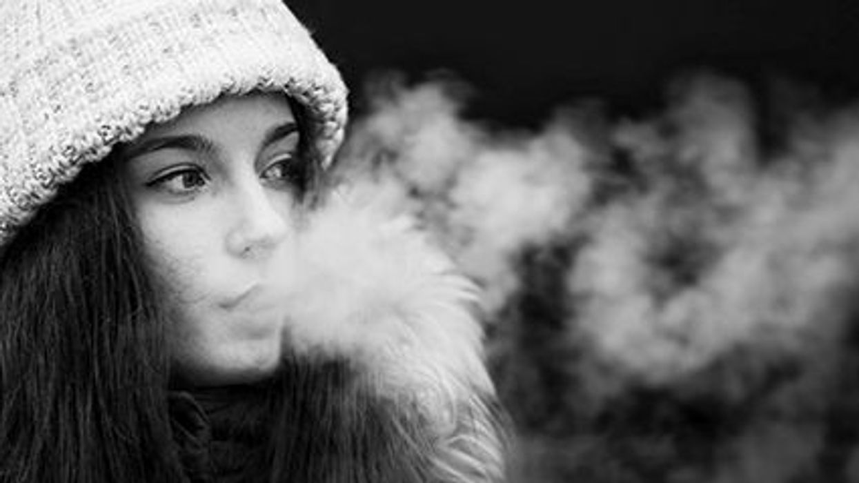 a girl smoking