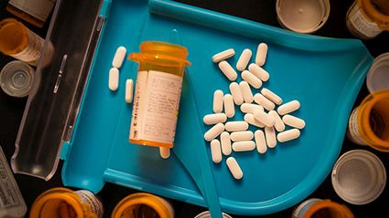 lots of white long pills