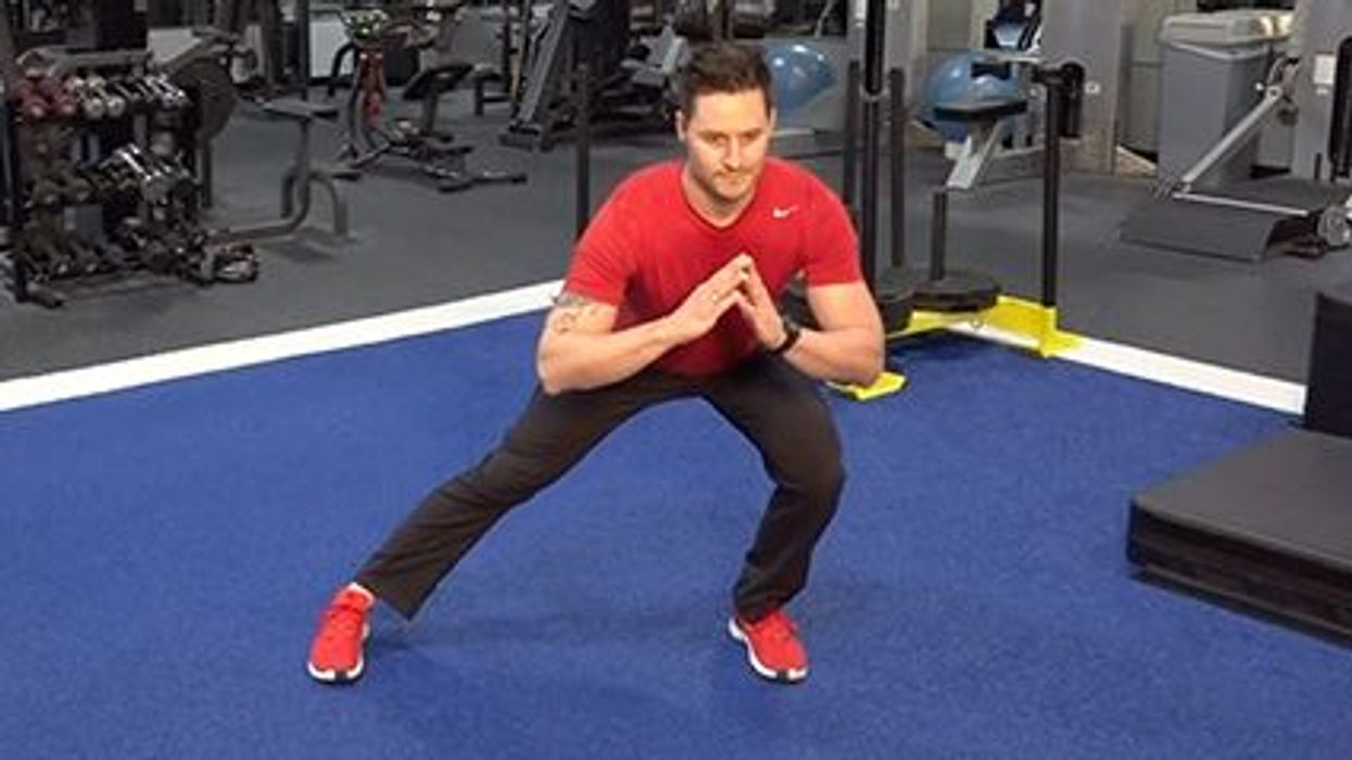 a man exercising