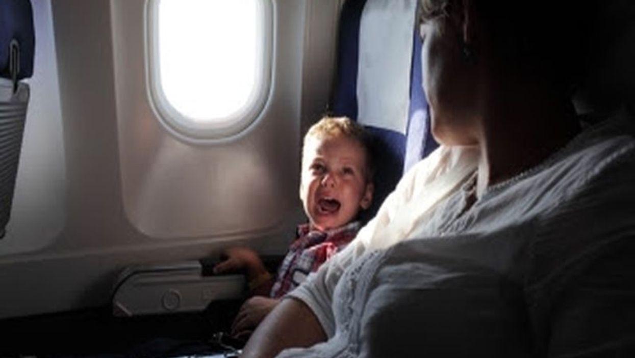 kids on planes