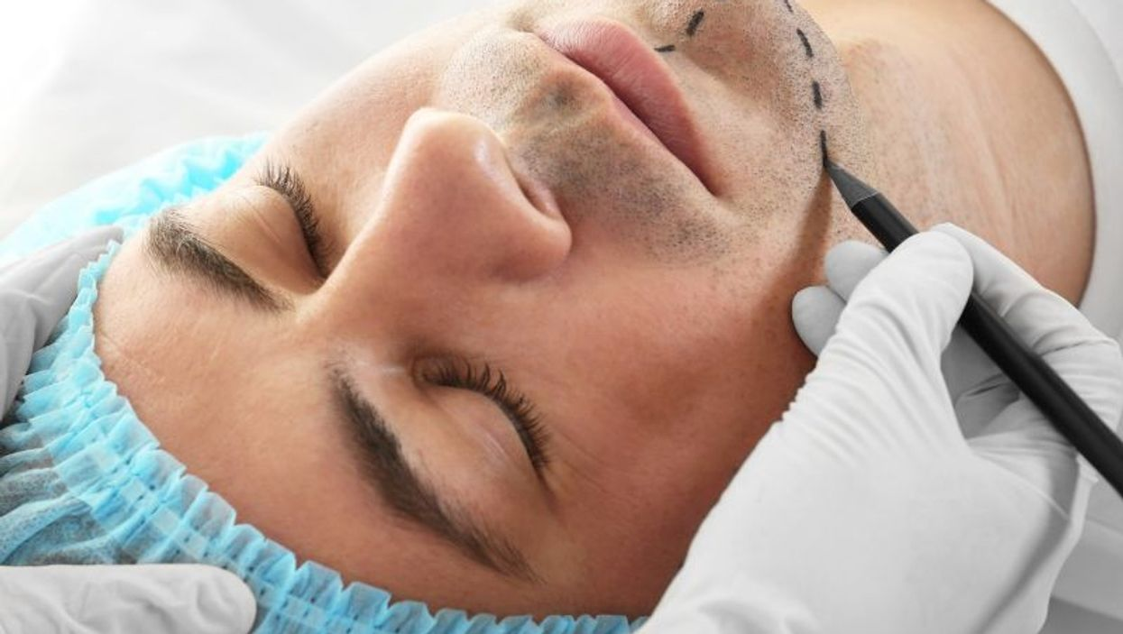 man having plastic surgery