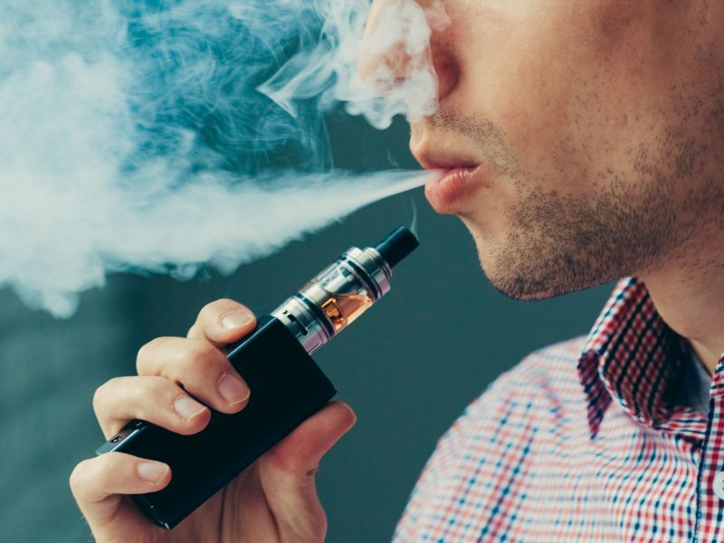 News Picture: Adding Vaping to Smoking Brings Even Worse Respiratory Effects