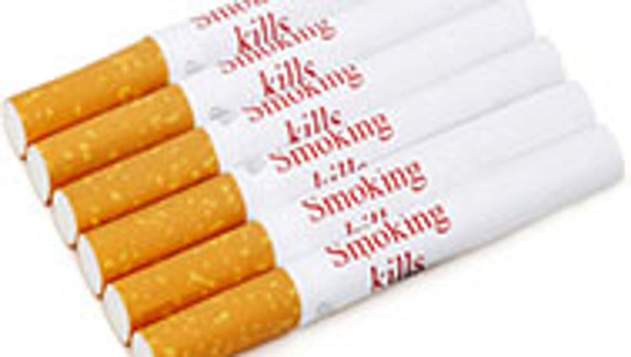 cigarettes with the warning smoking kills on it