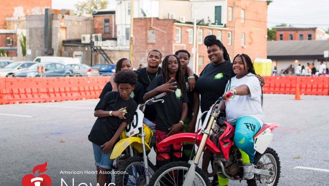 Brittany Young at a dirt bike showcase in Baltimore