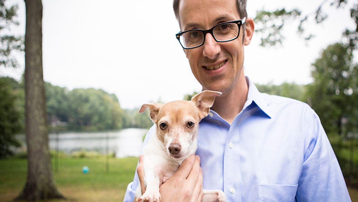 Roel Verhaak with his dog Lola