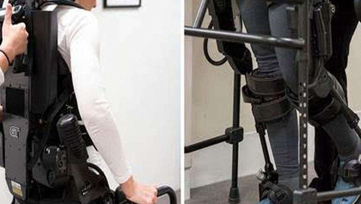 kathy miska using the exoskeleton
