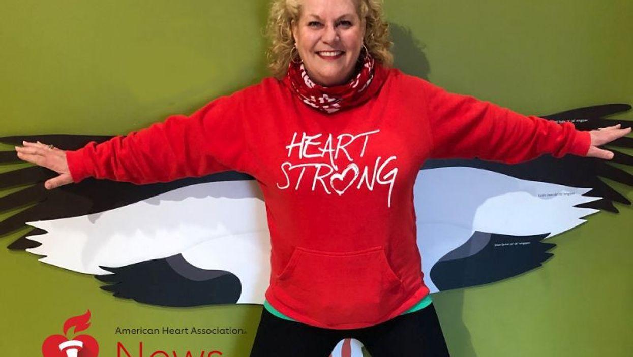 Heart attack survivor Bev Pohlit