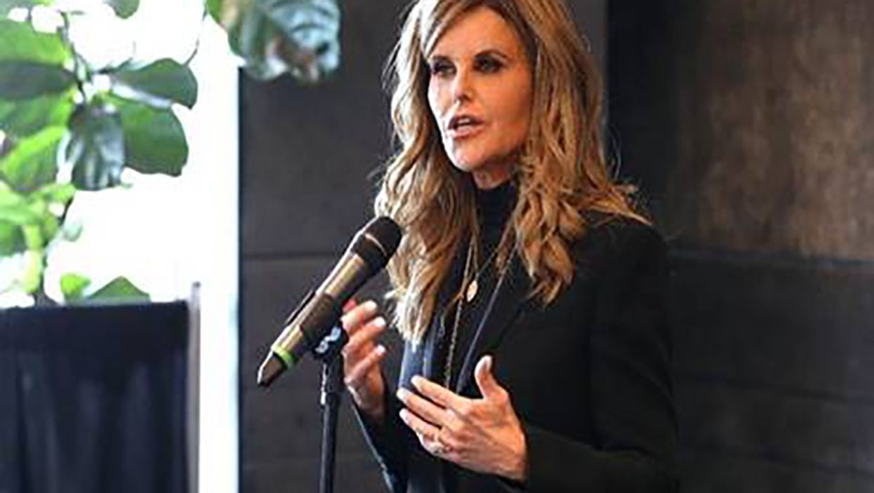Maria Shriver speaks at the luncheon