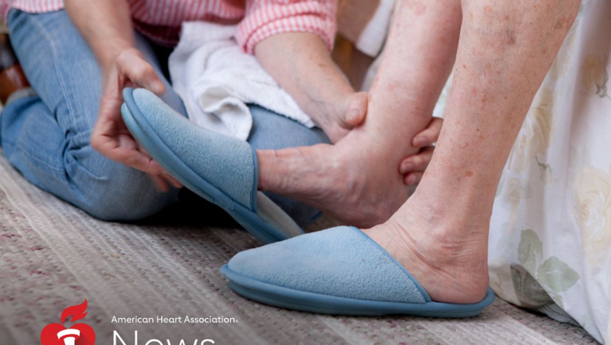 a person\'s feet in a slippers
